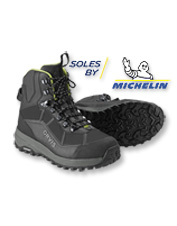 The Orvis PRO Wading boots boast exceptional traction thanks to Michelin's innovative outsole.
