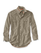 Our popular Bush Shirt gets a breathable poplin update in this long-sleeved expedition shirt.