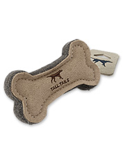 There's nothing artificial about this safe, durable, natural wool and leather dog toy.