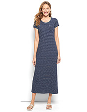 Spend more time enjoying summer and less time preparing with our Striped Indigo Maxi Dress.