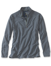 Get the performance you'd expect from an Orvis zipneck pullover, in a high-tech French terry.