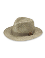 The Sanibel Seagrass Hat offers breathable protection from the sun—a beach day requisite.