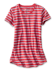 Look no further than our Striped Short-Sleeved Relaxed Perfect Tee for carefree summer style.