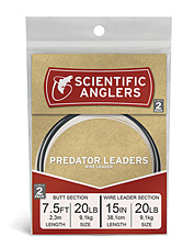 The teeth of feisty predator fish are no match for this tapered leader with bite-proof wire.