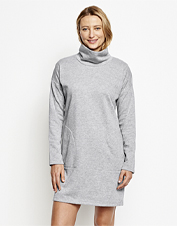 This Signature Fleece Sweatshirt Dress is our answer to casual day softness you can dress up.