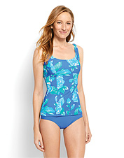 70ddfd16d0 Mix and match this blue floral tankini swim top with a different bottom as  the mood