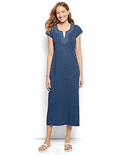Our Embroidered Indigo Maxi Dress proves it's possible to be both fashionable and comfortable.