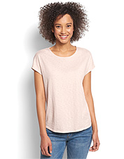 You'll leave an impression when you step out in our whimsical Easy Dolman Painter Tee.