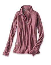 Layer up in our lightweight fleece quarter-zip pullover for your favorite winter avocations.