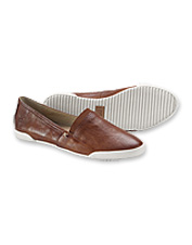 Outfit your everyday adventures with these Italian leather Melanie Slip-On shoes by Frye.