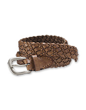 This Braided Leather Belt is handwoven to create an adjustable accessory to suit any outfit.