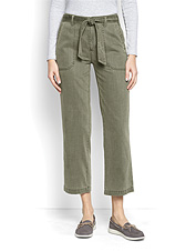 Casual days are made for the soft comfort offered by our Homespun Twill Tie-Waist Pants.
