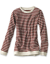 Get Signature Softest sweatshirt-level comfort in a dressed-up, striped crewneck package.