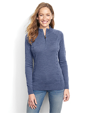 Our Signature quarter-zip sweater gets its any-season softness and comfort from merino wool.