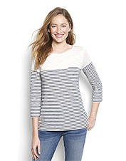 A slub knit gives this striped tee an appealing texture that's breathable and comfortable.
