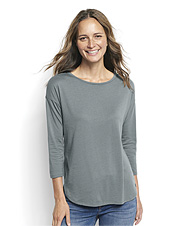 Our silky modal blend means this Supersoft Three-Quarter-Sleeved Tee is anything but basic.