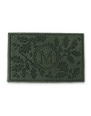 Guests receive a hearty welcome at the door with this Personalized Oak Leaf Water Trapper Mat.