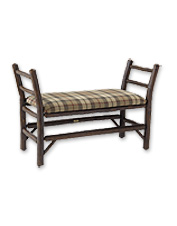 Add rustic charm to your entryway with this handmade-in-America Old Hickory Bench.