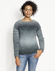 Our Ombré Artisan Crewneck Sweater features texture and stripes you'll reach for all season.