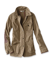 The field jacket inspired the pockets, patches, and more in our Stretch Sateen Sporting Jacket.