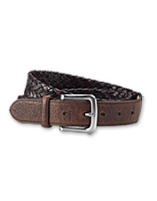Don't settle for one kind of leather—our Bison and Latigo Braided Belt offers a double dose.