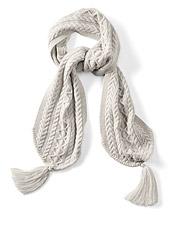This scarf by Smartwool is cable knit in a cozy merino blend for warmth against winter winds.