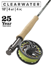 Line management and control are prioritized in the versatile Clearwater 4-Weight 10' Fly Rod.
