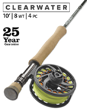 We engineered the Clearwater 8-Weight 10' Fly Rod for impressive action that hooks big fish.