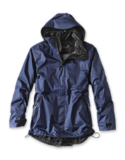 Because adventures are best had dry, this Orvis Waterproof Rain Jacket belongs with your gear.