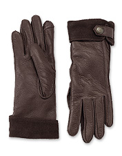 Post updates during chilly adventures—our deerskin leather gloves are touchscreen-compatible.