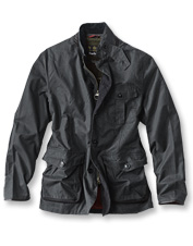 Rugged wax cotton meets the luxury of leather and wool in the Dalkeith Jacket by Barbour.