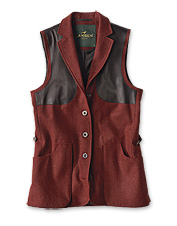 Hardworking loden wool earns this sophisticated shooting vest high marks for performance.