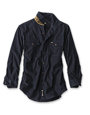 An extra-soft fine wale corduroy and faux suede add a bit of polish to our Fairbanks Shirt.