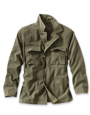 Our Herringbone Military Overshirt has enough heft to serve as an outer layer on cool days.