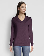 Breathable, moisture-wicking properties in our Signature Merino V-Neck extend sweater season.