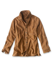 Goat nappa leather makes our Suede Overshirt soft, rugged, and handsome.