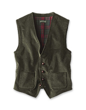 Celebrated English corduroy elevates this distinctive and essential V-neck vest.