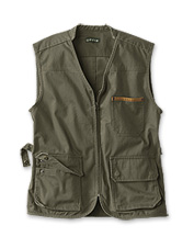 The legacy of durable Britain Cloth lends rough-and-tumble ruggedness to this zip-front vest.