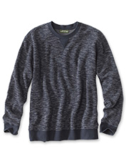 Our jacquard knit Slub Crewneck Sweatshirt promises stretch and comfort in a sporty package.