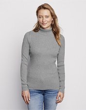 A favorite layer in a perfect fit—our ribbed turtleneck is ready to take on sweater weather.