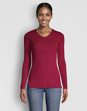 An essential layer, our classic Ribbed V-Neck Sweater is now softer than ever.