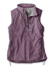 The Women's PRO Insulated Vest boasts high-tech temperature control for chilly fishing days.