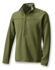 Pullover ease and impressive warmth earn high praise for our Men's PRO Half-Zip Fleece.