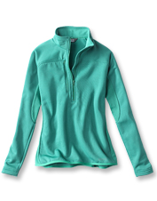 Our Women's PRO Half-Zip Fleece offers warmth and breathability in an easy pullover style.