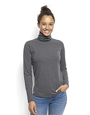 The basics don't have to be boring—this incredibly soft Brushed Marled Turtleneck proves it.