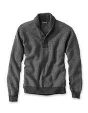 Cozy up in your favorite armchair wearing our Lambswool Honeycomb Shawl Collar Pullover.