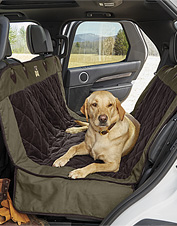 Shield the car seats from your dog's muddy paws and coat with the Heritage Hammock Protector.