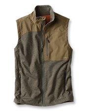 Repel water and block chilly air with the protection of our quick-dry Hybrid Wool Fleece Vest.