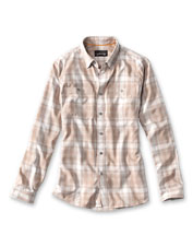 Take on long days at work or play in this breathable, quick-dry Tech Chambray Plaid Work Shirt.