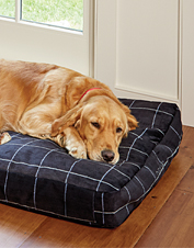 Soft, cozy—and totally chew-proof—our ToughChew ComfortFill-Eco Platform Dog Bed does it all.